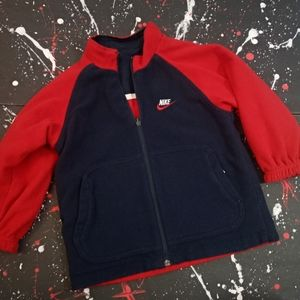 Nike | youth reversible red & blue winter jacket